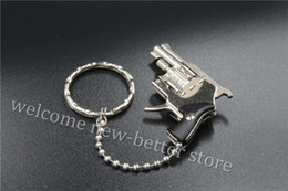 Wholesale Most Popular Toys - the most popular children's toy gun the most interesting Keychain Keyrings gift Metal alloy gun model Alloy revolver