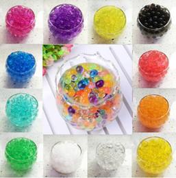 Wholesale Crystal Soil 5g - 100 Bags gel water balls kids toys crystal soil 5g bag transparent water beads hydrogel for wedding decoration