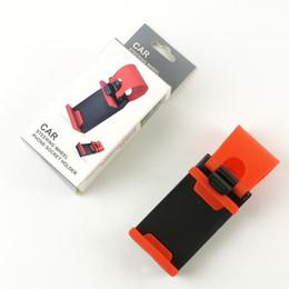 soporte montado en el volante del teléfono celular Rebajas Universal Craft Car Cradle Holder SMART Clip Car / Bike Mount para teléfono móvil GPS