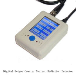 Wholesale Geiger Counters - Wholesale-Digital Geiger counter radiation detectors nuclear radiation particle detector with a mini USB cable + BNC cable + GM tube