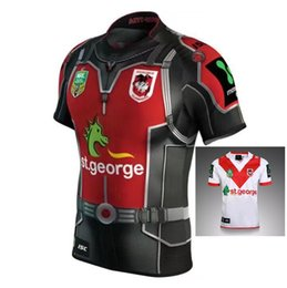 Wholesale shirt hero - NEW 2017 St. George RUGBY jersey 17 18 Top Thailand quality Rugby hero STGEORGE home away Shirts Free Shipping