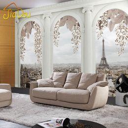 Wholesale Wallpaper Photography Backgrounds - Wholesale-Custom 3D Mural Wallpaper Roman Column 3D Photo Photography Background Living Room Bedroom Wallpaper Decoration Contact Paper