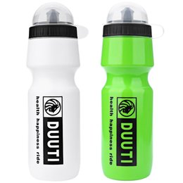 Wholesale Hdpe Bottles - 1 Pcs HDPE Bicycle Water Bottle 750ML Portable Outdoor Bike Cycling Sports Drink Jug Water Bottle Cup With Dust Cover