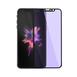 Wholesale Wholesale Light Covers Glass - For iphone x Tempered Glass JOYROOM 3D Nano Full Cover Anti Blue Light Soft Edge Screen Protectors Film For Iphone X 8 8plus