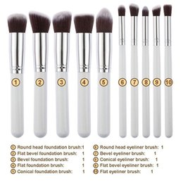 Wholesale Girls Facial Hair - 6 Styles Pro Cosmetic Makeup Brushes Tools 10PCS   Set Facial Foundation Eyeshadow Powder Blush Brush Lady Girls Make Up Accessories