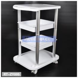 Wholesale Machine Trolley - New Two Shelf ABS Pedestal Rolling Cart Salon Stand Trolley Styling Spa Salon Cart for Ultrasonic Cavitation RF HIFU Face Lifting Machine