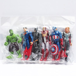 Wholesale Iron Man Pvc - Joints moveable The Action Figures Spider man Iron Man Hulk Thor Captain America Action Toy Figures Boys Girls Toy