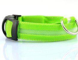 Wholesale Usb Multi Outlet - Factory Outlets 2PC 100PC Adjustable Safety Pets Dog Collar LED Flashing Night Light Nylon Pets Collar USB Charging S-XL