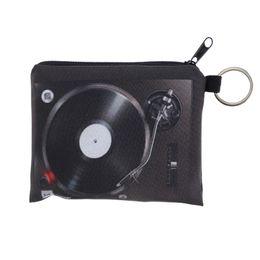 Wholesale 3d Printed Ring - Wholesale- Women Coin Purses Cute Girl Mini Bag Key Ring Case Zipper Wallet Lovely CD 3d print Pouch Change Purse wholesaleCP4021