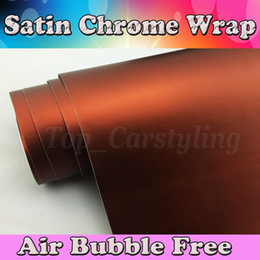 Wholesale Chrome Vehicle Wrap - Brown Brozen Metallic Matte Chrome Vinyl car wrap film For Car Vehicle styling With Air Release matt metallic Car sticker Foil