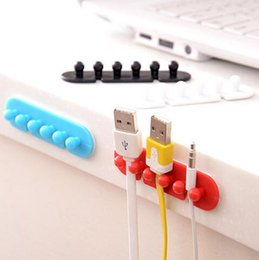 Wholesale Cord Cable Clip Ties - Wire Cord Cable Holder Drop Clip Wire Organizer Line Fixer Divider Ties