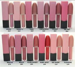 kylie jenner marque de maquillage Promotion livraison gratuite! 2017 nouvelle marque lustre lipgloss / rouge / rouge à lèvres 4.5g 12 Couleur différente (12pcs / lot)