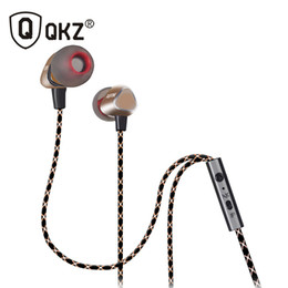 Wholesale 7mm Wire - QKZ X36M Enthusiast Bass Ear Headphones Copper Forging 7MM Shocking Antinoise Earphone With Microphone Sound Quality Gold plated