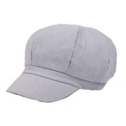 Wholesale Women Berets Caps - Wholesale-2017 Fashion Women Beret Hat Octagonal Denim Newsboy Caps Short Eaves Dome Leisure Style Free Shipping