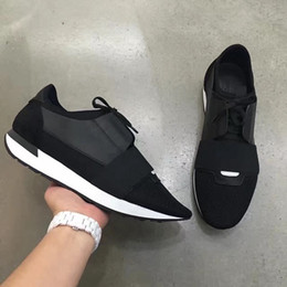 Wholesale Blue Races Dress - [With Box] Luxury Arena Sneaker Shoes Fashion Kanye West BL Race Runner Men's Walking Casual Trainers Party Dress Shoes 39-46