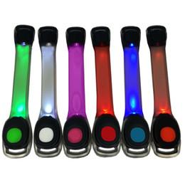 2019 armband nylon sport Nylon LED Sports Handschlaufe Armband Licht Flash Armband Leuchtende LED Armband Flare Strap Für Party Konzert Armband rabatt armband nylon sport