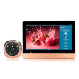 Wholesale Touch Screen Video Intercom Doorbell - iHome 4 instead of iHome 8 Wireless Video Door Phone Smart WIFI Peephole Doorbell Intercom 7 inch TFT Capacitive LCD touch screen