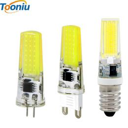 Wholesale G9 Cob Led Warm White - 5pcs G4 G9 E14 LED Bulb 220V 3W 2W AC DC 12V COB bombillas LED Bulb LED lamp G9 G4 COB Lights Replace 30W Halogen Spotlight