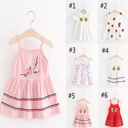Wholesale Active Shops - 12Style Kids Clothes Baby Girls Dress 4 PCS=1style Summer Bowknot Cute Children's Dress Cotton Dress Free Shopping