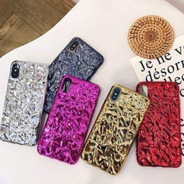 Wholesale Electroplated Iphone Case - For iphone X iphone 8 plus Back Cover Gold Silver Electroplated Plating Foil Color Phone Case for iphone 7plus 8 6s 6 plus