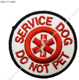 "Wholesale Pets Guide - 3"" Service Dog Do Not Pet patch Guide Animal Medical Assistance Iron On Gear Vest Emblem Halloween Costume Embroidered badge"