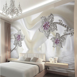 Wholesale Wallpaper Photography Backgrounds - Wholesale- wallpapers home decor Photo background wall paper living room Photography Diamond Hotel bathroom large wall art mural painting