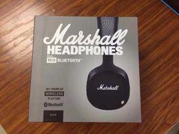 Wholesale Mid Wireless - Marshall MID Bluetooth headphones Clone With Mic Deep Bass DJ Hi-Fi Headset Professional DJ on-ear headphone