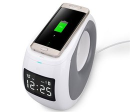 Wholesale Alarm X - new design wireless mobile charge 20w blue tooth speaker apt-x hifi support nfc aux input clock alarm with LCD display