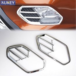 Wholesale Ford Front Bumpers - For Ford Escape Kuga 2017 Chrome Front Head Fog Light Lamp Cover Trim Foglight Bezel Bumper Garnish Frame Molding Styling 2pcs