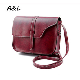 Wholesale Stylish Lady Leather Bag - Wholesale- 2016 Vintage Casual Women Bag Fashion Luxury Designer Women Messenger Bags Retro Stylish Lady Leather Small Clutch Bolsas A0097