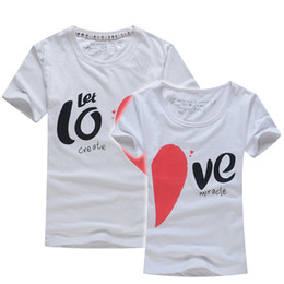 Wholesale Wholesale Clothing Men Women - Wholesale-Lovers T Shirt For Couples And Lovers Clothes Lovers tshirt Summer Shirt Men & Women Heart Love T-shirts Shape Shirt Clothes
