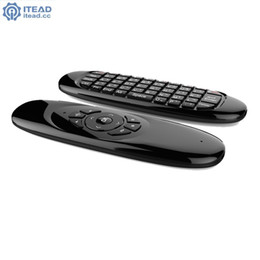 2019 controlador de android tv giroscopio Al por mayor-Giroscopio Fly Air Mouse C120 Teclado de juegos inalámbrico Android Remote Controller Teclado recargable de 2.4Ghz para Smart Tv Box rebajas controlador de android tv giroscopio
