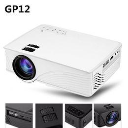 Wholesale Led Full Hdmi 3d - Wholesale- GP12 GP-12 Protable Mini LED Projector 2000 Lumens Home Cinema Theater Full HD 3D 1080P Video Home Theater Projector PK GP9 GP-9