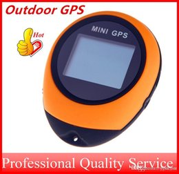 Wholesale Handheld Gps - Mini GPS Receiver Navigation Tracker Handheld Tracking Location Finder USB with Compass for Outdoor Travel free shippping OUT041