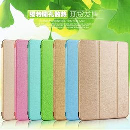 Wholesale Ipadmini Stand - Ultra Thin Light Three Fold Transparent Clear Silk line Leather Case For Ipadmini retina ipad Mini 1 2 3 Stand Function Cover