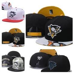 Wholesale Penguin Cap - Cheap dad hat Pittsburgh Penguins Gradient Style Baseball Snapback Hats Sport Hockey Embroideried Character Logo Casquette Caps bone cap men