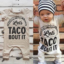Wholesale Long Sleeve Romper Shorts Wholesale - 2017 Baby Romper Newborn Letter Print Bodysuit Girl Boy Fashion Summer Fall Clothes Toddlers Long Sleeve Kids Clothing Cute