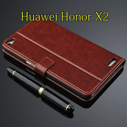 Wholesale Huawei Mediapad Casing - For Huawei Honor X2 7.0 Inch Case MediaPad X2 Flip Wallet PU Leather Stand Function Three Card Holder