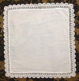 """Wholesale Lace Handkerchiefs Wholesale - Home Textiles Venice lace High Quality White100%cotton Ladies Handkerchief 12PCS lot 12x12""""Elegant Embroidered crochet lace edges For Bride"""