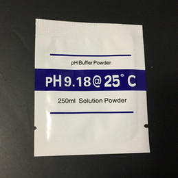 Wholesale Measuring Ph - New arrival 9.18 PH Buffer Powder for PH Test Meter Measure Calibration Solution 4pcs lot