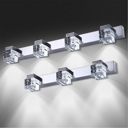 crystal bathrooms Promo Codes - Modern LED Mirror Light High Bright LED Crystal Bathroom Wall Lamp Bright Mirror Front light Wall Sconces Washroom Wall Lamp