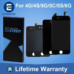 Wholesale Wholesale Iphone 5c Screens - Factory Sale Grade AAAA For iphone 6 LCD Display Digitizer Screen Assembly For iphone 5S 4 4S 5 5C SE Repair Part