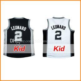 Wholesale Basketball Jersey Kids - Youth Kid's 2 Kawhi Leonard Basketball Jerseys KIDS 100% Stitche Kawhi Leonard Jersey S-XL Cheap Sale Fast Free Shipping