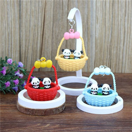 Wholesale Chengdu Panda - Sichuan Chengdu tourist souvenirs, lovely panda basket, swing, panda pendulum pendant, decorative home features gifts