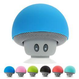 Wholesale Cars Bookshelf - lovely mini mushroom Car speaker subwoofer Bluetooth wireless speaker silicone sucker phone stand With retail packaging MOQ:20PCS