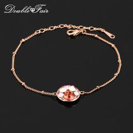 Élégant Rose Strass Party Bracelets Bracelets 18K Or Rose Plaqué De Mode CZ Diamant De Mariage Bijoux Pour Femmes Cocktail Party DFH161 ? partir de fabricateur