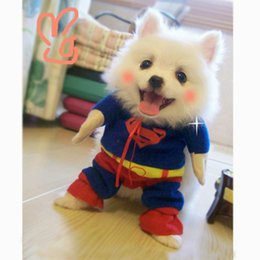 Wholesale Male Cape - Dog Costumes With Cape Cotton Maded Pets Vertical Standing Clothing Adjustable Magic Tape DC Comics Clothes Pet Supplies XL