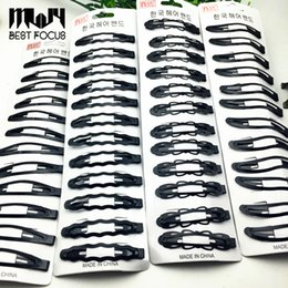 Wholesale Style Hair For Girl - Kids BB Clips Hair Snap Clips Accessories For Women Girls Black Hairgrips Barrettes Head Hairpins Jewelry 11 styles Hot Sale 120pcs lot