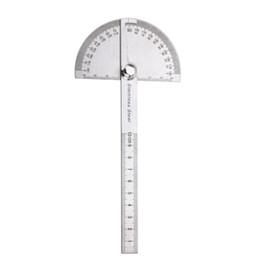 Stahl-winkelmesser online-Edelstahl 180 grad Winkelmesser Winkelsucher Messlineal Für Holzbearbeitungswerkzeuge für Mess Winkel