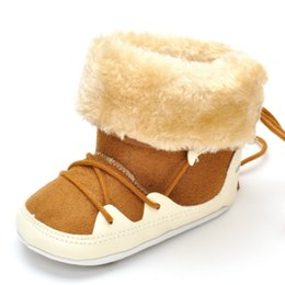 Wholesale Baby Shoes Thick Sole - Winter Infant Baby Boy Girl Soft Sole Thick Warm Shoes Snow Boots Crib Shoes 0-18 Months